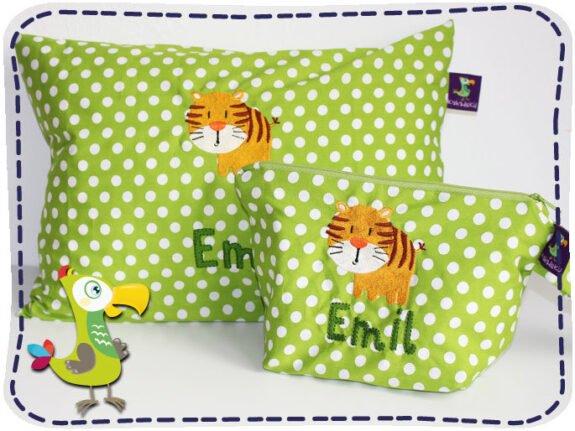 KakaduKid Kissen und Tasche Tiger
