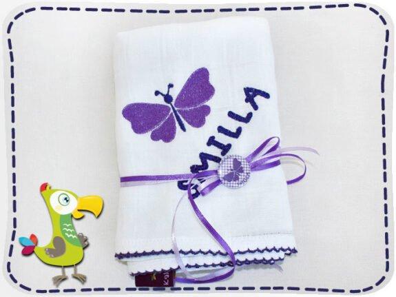KakaduKid Mullwindel Schmetterling Lila