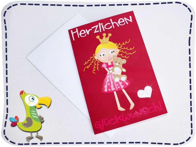 Herzlichen Glückwunsch! Prinzessinnen Karte
