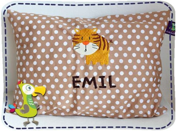 KakaduKid runder Tiger Kissen Emil