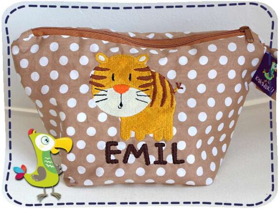 KakaduKid runder Tiger Tasche Emil