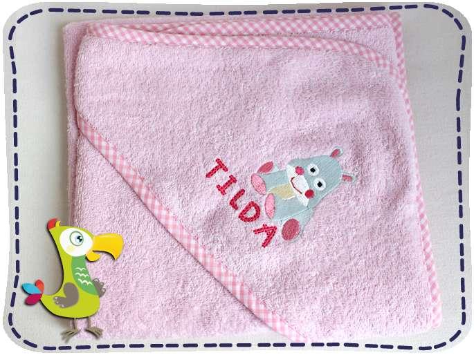 KakaduKid Handtuch Babynilpferd Tilda