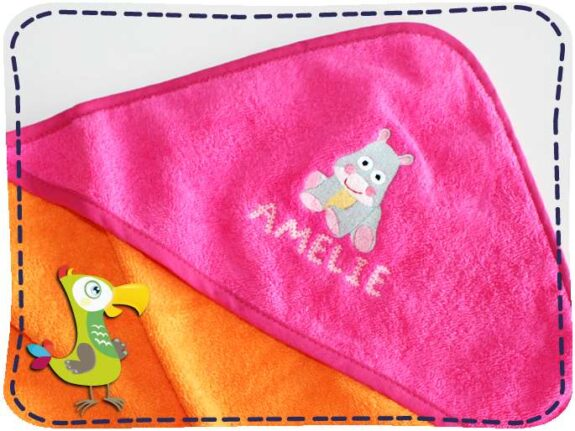KakaduKid Handtuch Babynilpferd Amelie