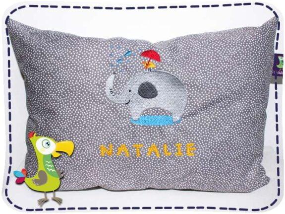 KakaduKid Kissen Vogel und Elefant Natalie