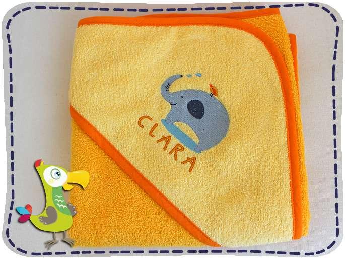 KakaduKid Handtuch mit Vogel und Elefant