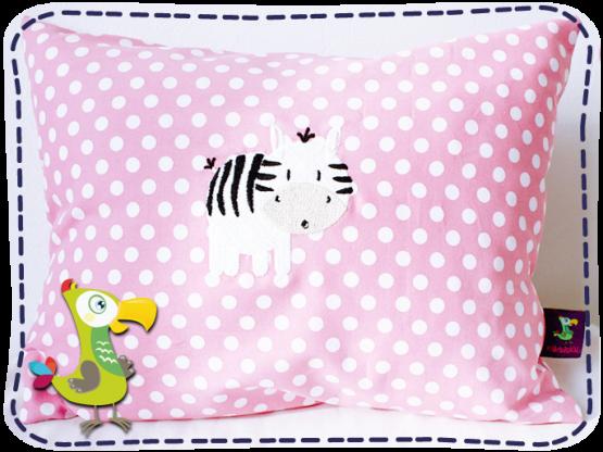 KakaduKid rundes Zebra Kissen