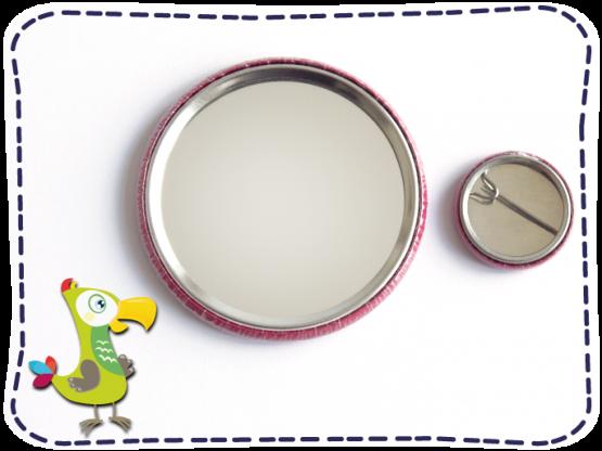 KakaduKid Spiegel und Button Rückseite