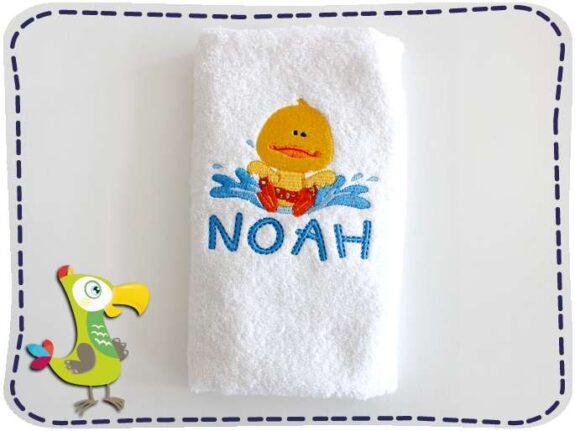 KakaduKid Handtuch Ente planscht Noah