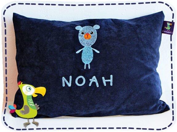 KakaduKid Kissen Rotknopfbärär Noah
