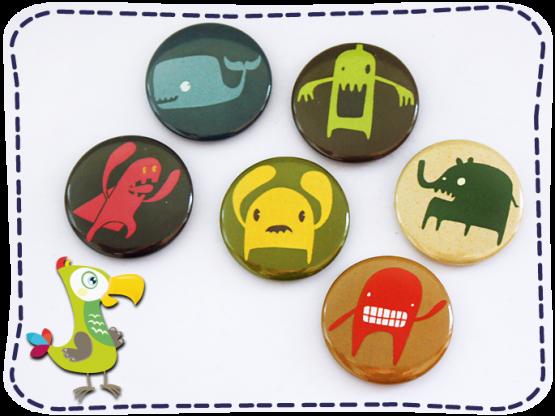 KakaduKid Monster...Grrr... Buttons