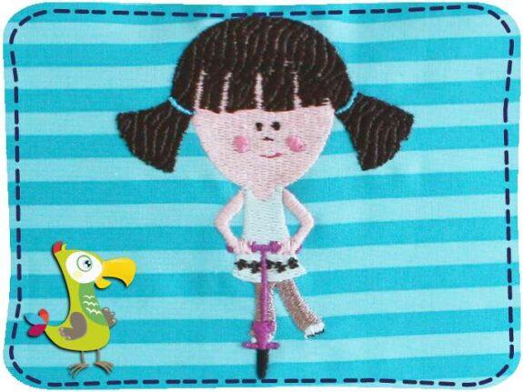 KakaduKid Kissen Rollergirl