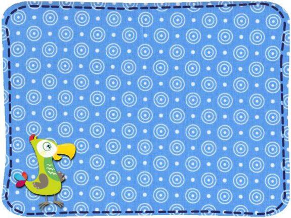 KakaduKid Stoffe Kringel blau