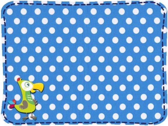 KakaduKid Stoffe Punkte blau