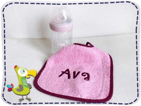 KakaduKid rosa Lätzchen mit Flasche