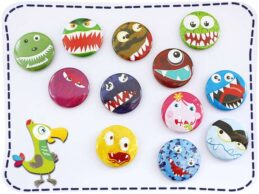 KakaduKid 12 Monster Buttons