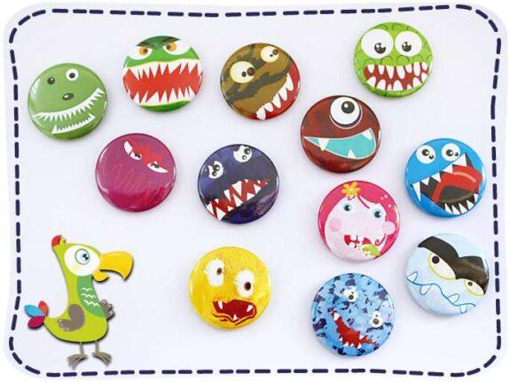 KakaduKid 12 Monster Buttons