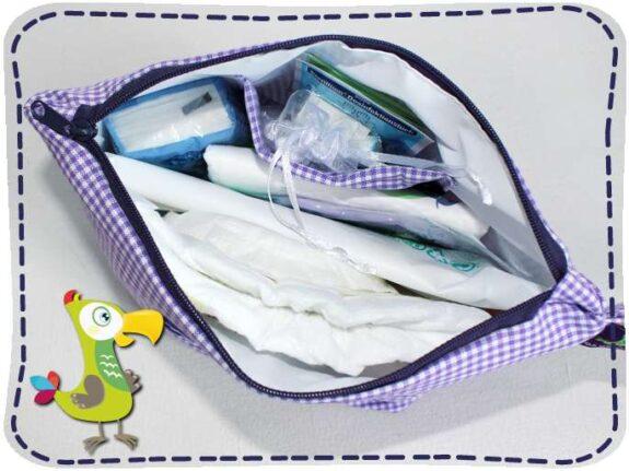 KakaduKid Babyfüßchen in lila Wickel-Kit