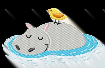 Der Vogel und sein Freund das Nilpferd